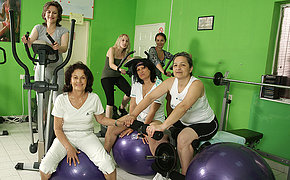 Nice Grannies Enjoy Exercising Bare