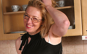 Wife Jane Becomes Nasty In Her Kitchen