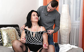 Big Jugged Round Housewife Doing Her Plaything Fellow