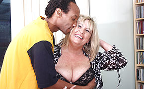 British Lush Mature Doll Munching On A Black Beef Whistle
