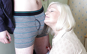 Big Brit Housewife Playing With Her Plaything Dude