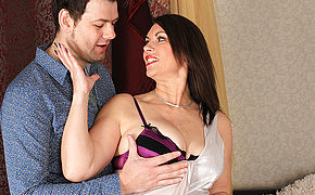 Kinky Large Breasted British Milf Pounding And Inhaling