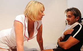 Kinky Brit Nurse Gives Her Patient The Full Treatment