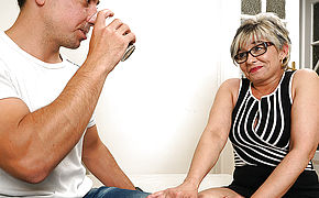 Insatiable Housewife Tearing Up Her Younger Lover