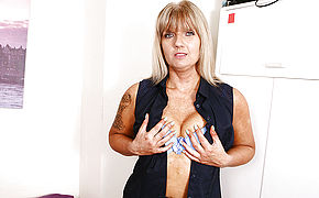 Mischievous Brit Mature Female Getting Moist And Mischievous
