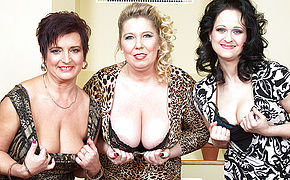 Trio Big Breasted Housewives Humping And Fellating In Point Of View Style