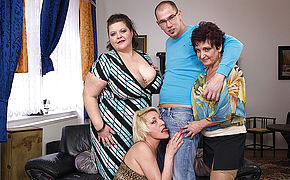 Three Mature Ladies Drilling And Deepthroating A Toyboy