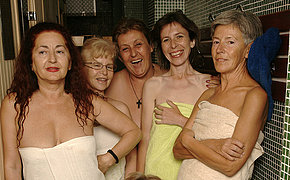Check Out An All Damsel Sauna With Elder Ladies