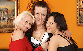 Elderly Dykes Share A Wicked Gal