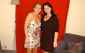 Two Kinky G/g Housewives Getting Appetizing And Scorching