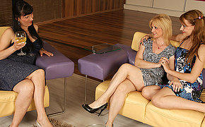 Trio Mixed Age Lesbians Love To Blow And Go Insatiable