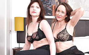 2 Super-naughty Mature Lesbians Getting Wet And Insatiable