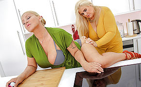 Two Big Breasted Mature Ladies Shopping For Toys