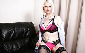 Naughty British Mature Lady Playing With Herself