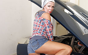Naughty Mature Female Mechanic Getting Greasy In Her Garage