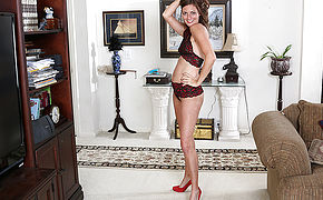 This Naughty Mom Gets Undressed And Then Some