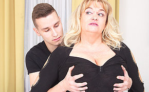 This Bbw Mature Babe Gets A Quick Ultra-cute Screw