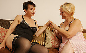 Couple Of Crazy Old Lesbians Getting Insatiable
