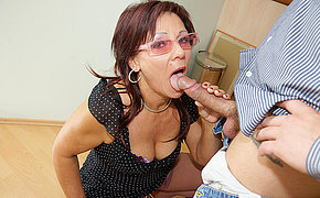 Kinky Grandma Getting A Scorching Inner Jizz Flow