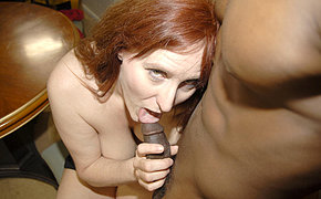 Super-fucking-hot Ginger-haired Getting Plowed With A Thick Dark-hued Dagger