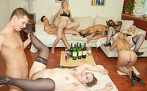 Spectacular And Killer Older Girls On A Bang-out Party