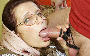Old Woman Cockslut Enjoys Getting Porked On Her Sofa