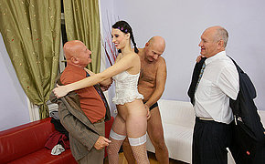 A Couple Of Naughty Old Studs Boning A Vicious Youthfull Whore