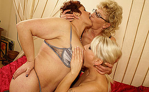Two Vicious Milf Gals Take On A Mind-blowing Young Babe