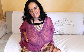 Big-chested Husband Pleasing Herself