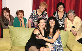 Mature And Teenage Lezzies Perform In A Room Utter Of Older Stunners