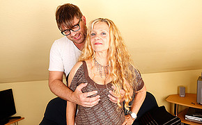 Ultra-kinky Bf With Glasses Is Massaging His Ultra-cute Femmes Big Melons