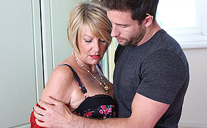 Insane Fellow Is Ready To Unwrap And Bang His Adorable Milf Deep And Stiff