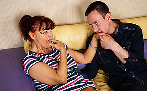 Warm Milf Is Deep Deepthroating Her Finger While Her Lover Is Gobbling Her Mouth-watering Palm